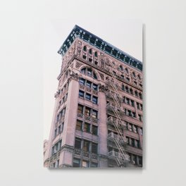 """New Yorkers Don't Look Up"" Metal Print"