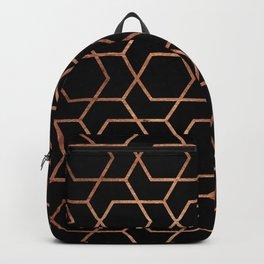 Geometric gold & black Backpack