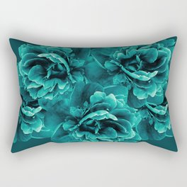 Turquoise Peony Flower Bouquet #1 #floral #decor #art #society6 Rectangular Pillow