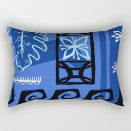 Hawaiian Pattern #1 - blue! Rectangular Pillow