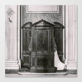 Italian confession Canvas Print