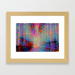 Pillar Garden Framed Art Print