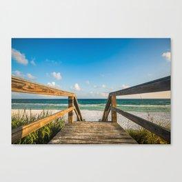 Head to the Beach - Boardwalk Leads to Summer Fun in Florida Canvas Print