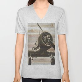 Old airplane 2 Unisex V-Neck