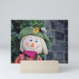 Smiling Scarecrow Mini Art Print