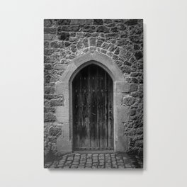 A Doorway Awaits at Leeds Castle Metal Print