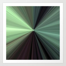 Shades of Green Color Explosion Art Print