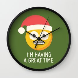 White Knuckle Christmas Wall Clock