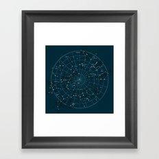Space Hangout Framed Art Print