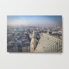 Vienna Cityscape from Stephansdom Metal Print