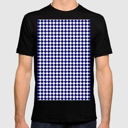 White and Navy Blue Diamonds T-shirt