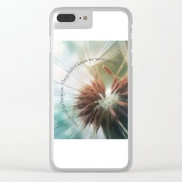 We Are Seeds Clear iPhone Case