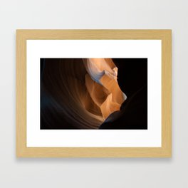 You sit back, you smile. Framed Art Print