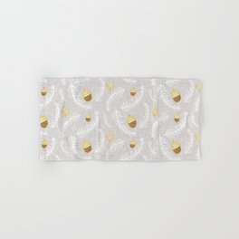 Holiday Floral Acorn Grey #Holiday #Christmas Hand & Bath Towel