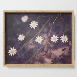 Miniature Flannel Flowers Serving Tray