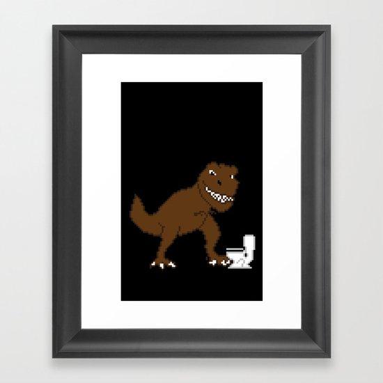 Jurassic Pixel Framed Art Print