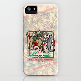 Swim Beyond Misconceptions - Happy Holidays! iPhone Case
