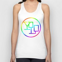 yolo Tank Tops featuring Yolo  by Office Party