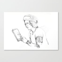 Harry reading Canvas Print
