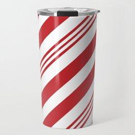Red Candy Cane Stripes Travel Mug