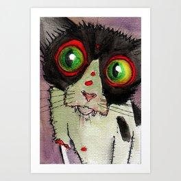 Gypsy Zombie Kitten Art Print