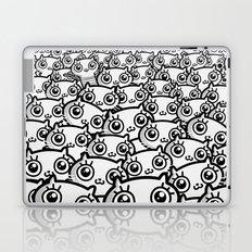 Crazy Cat Lady Dreams (in b/w) Laptop & iPad Skin
