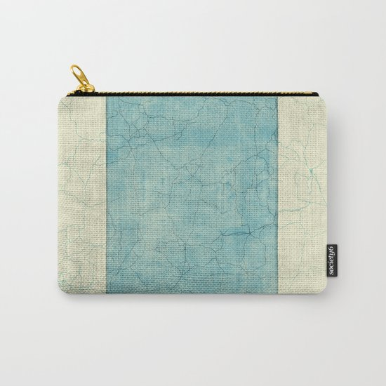 Wyoming State Map Blue Vintage Carry-All Pouch