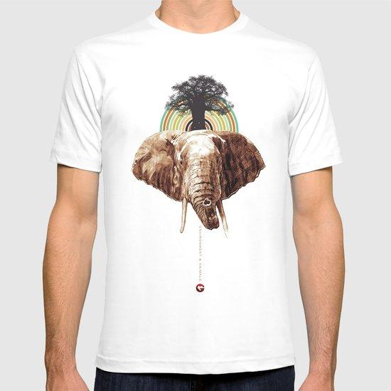 "Glue Network Print Series ""Environment & Animals"" T-shirt"