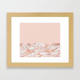 Blush massarosa - rose gold marble Framed Art Print