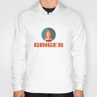 spice girls Hoodies featuring GINGER SPICE by Chilli Cactus