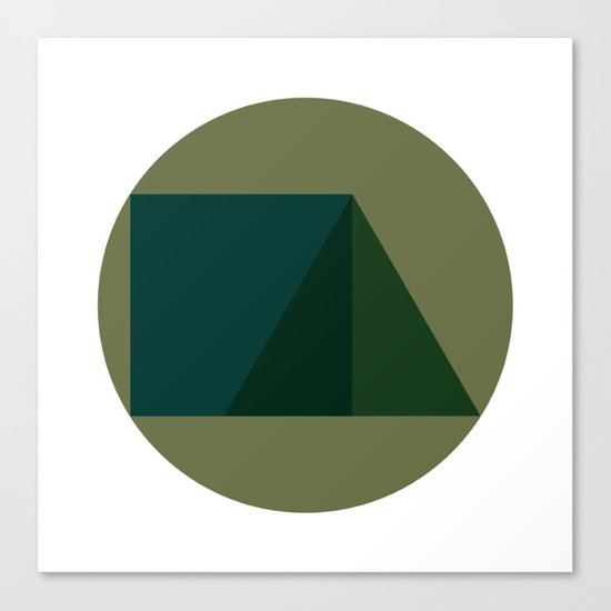 #249 Triad – Geometry Daily Canvas Print