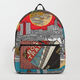 LOVE TRAVEL POSTCRDS N15 Backpack