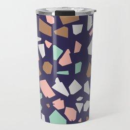 Colorful Modern Terrazzo Vector Pattern Travel Mug