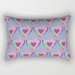 The heart has a kiss in mind Rectangular Pillow