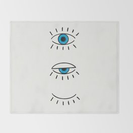Summer Evil Eyes Throw Blanket