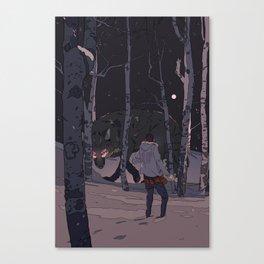 Kitsune at Night Canvas Print