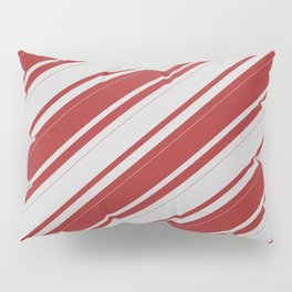 Light Gray & Brown Colored Lines/Stripes Pattern Pillow Sham