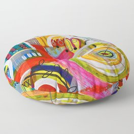 Spin City Floor Pillow