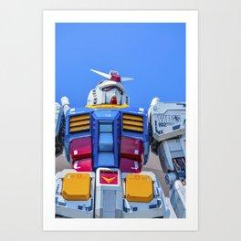The Gundam of Odaiba Art Print