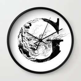 Fancy Marbled G Wall Clock