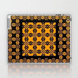 African Ethnic Pattern Black and Orange Laptop & iPad Skin