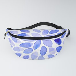 Watercolor brush strokes - blue Fanny Pack