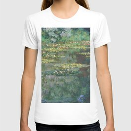 Water Lilies 1904 by Claude Monet T-shirt