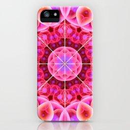 Pink and Violet Healing Mandala iPhone Case