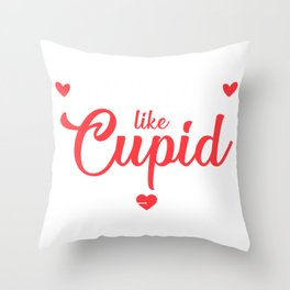Valentine   Stealing Hearts Like Cupid Throw Pillow
