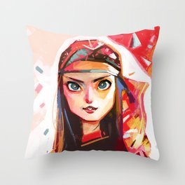 Red Scarf Throw Pillow