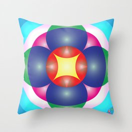 Atoms 28 Throw Pillow