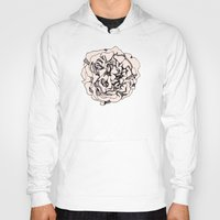 damask Hoodies featuring Damask Rose by Katie Acheson Wolford