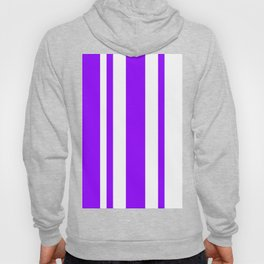 Mixed Vertical Stripes - White and Violet Hoody