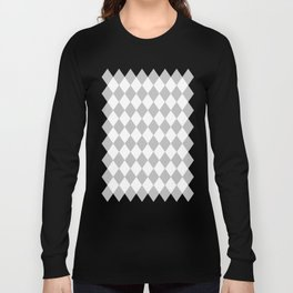Diamonds (Silver/White) Long Sleeve T-shirt